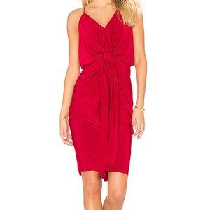 Misa Los Angeles Domino Dress in Red